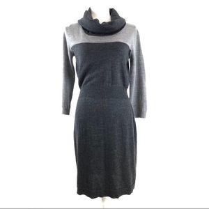 Loft Ann Taylor Sweater Dress Small Grey G508